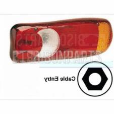 DAF LF45 & LF55, RENAULT MIDLUM & VOLVO FE & FL REAR COMBINATION LAMP  WITH NUMBER PLATE LAMP RH