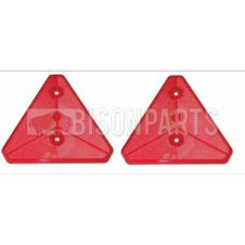 TRUCKLITE / RUBBERLITE RED TRIANGLE BOLT ON / SCREW ON REFLECTOR (PAIR)