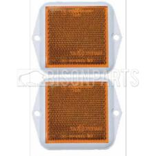 AMBER SQUARE SIDE REFLECTOR 58X58MM (PAIR)