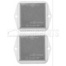 CLEAR SQUARE FRONT REFLECTOR 58X58MM (PAIR)