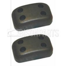 UNIVERSAL OBLONG  RUBBER BUFFER - PAIR