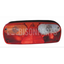 TRAILER ECOPOINT REAR LAMP LENS RH/LH WITH TRIANGLE REFLECTOR
