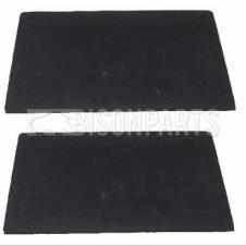 PLAIN BLACK RUBBER MUDFLAP 22