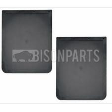 PLAIN BLACK RUBBER MUDFLAP 24
