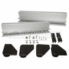 UNIVERSAL SIDE GUARD RAIL DOUBLE PEDESTRIAN END RAIL KIT