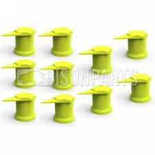 41MM LONG REACH DUSTITE WHEEL NUT COVERS YELLOW (PKT 10)