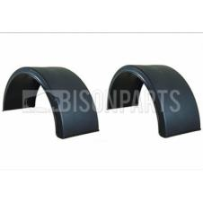 UNIVERSAL MUDGUARDS / MUDWINGS TO SUIT TWIN WHEELS J43A (PAIR)