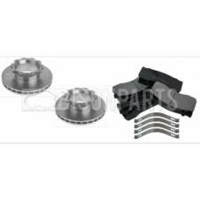 MAN LE, TGL & TGM 2000-2013 REAR BRAKE DISCS  & BRAKE PADS (AXLE SET)