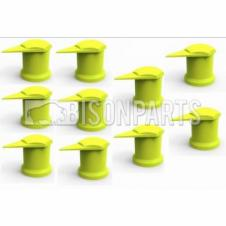 33MM LONG REACH DUSTITE WHEEL NUT COVERS YELLOW (PKT 10)
