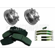 BRAKE DISCS & PADS AXLE SET FITS FRONT OR REAR AXLES