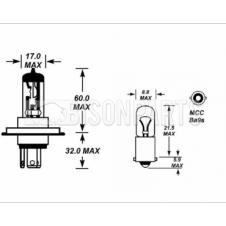 BULB KIT 12 VOLTS TO SUIT DAF274 / DAF275 (One needed for each Lamp)