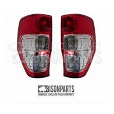 FORD RANGER (2012 - 2015) REAR TAIL LAMPS COMPLETE WITH BULB HOLDERS & BULBS LH & RH (PAIR OF)