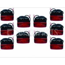 MARKER LAMP RED LED 10-30 VOLT(PKT 10)