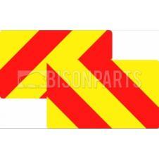 MARKER BOARD TYPE 3a RED / YELLOW CHEVRONS ALUMINIUM (PAIRS)