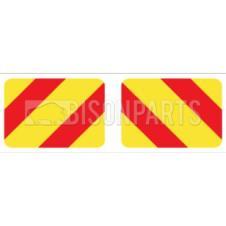 MARKER BOARD TYPE 6 CHEVRONS SELF ADHESIVE (PAIRS)