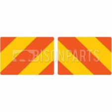 MARKER BOARD TYPE 3a RED / YELLOW CHEVRONS SELF ADHESIVE (PAIRS)