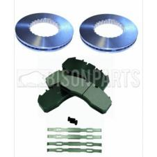 VOLVO FE, FH & FM FRONT OR REAR BRAKE DISCS & PAD SET & FITTING KIT (AXLE SET)