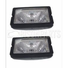 Scania 2, 3, 4, 5, 6 Series Rectangular Sun Visor Spot Lamp Flush Mount Clear (PAIR OF)