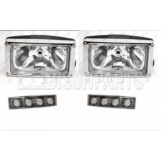 SUNVISOR CLEAR SPOT LAMP & CLEAR LED MARKER LAMPS FITS RH & LH