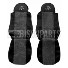 GREY TRIM SEAT COVERS (PAIR)