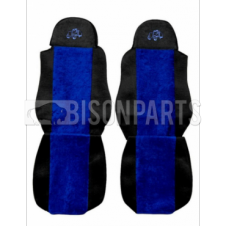 DAF LF / CF / XF SEAT COVERS PAIR (BLUE TRIM)