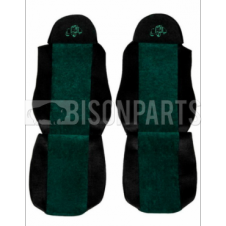 DAF LF / CF / XF SEAT COVERS PAIR (GREEN TRIM)