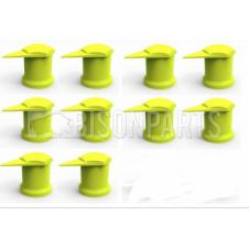 17MM LONG REACH DUSTITE WHEEL NUT COVERS YELLOW (PKT 10)