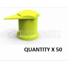 17MM LONG REACH DUSTITE WHEEL NUT COVERS YELLOW (PKT 50)