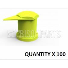 17MM LONG REACH DUSTITE WHEEL NUT COVERS YELLOW (PKT 100)