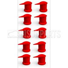 17MM LONG REACH DUSTITE WHEEL NUT COVERS RED (PKT 10)
