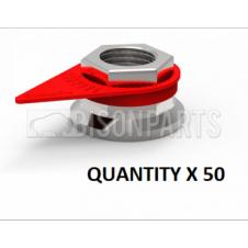 19MM WHEEL NUT INDICATOR RED (PKT 50)