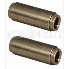 4MM STRAIGHT BRASS EQUAL CONNECTORS (PAIR)