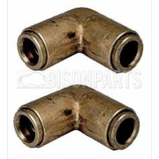 4MM ELBOW BRASS EQUAL CONNECTORS (PAIR)