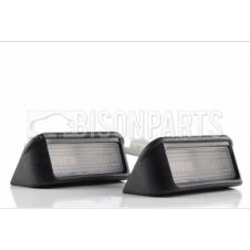 REAR NUMBER PLATE LAMPS & BULB HOLDERS (PAIR)