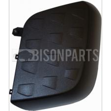 MERCEDES ACTROS MP4, ANTOS & AROCS BLACK PATTERNED WIDE ANGLE MIRROR BACK COVER PASSENGER SIDE LH
