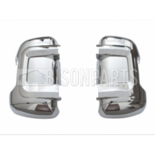 CHROME MIRROR BACK COVERS RH & LH (PAIR)