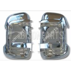 CITROEN, FIAT & PEUGEOT 2006 ONWARDS CHROME MIRROR BACK COVERS RH & LH (PAIR)