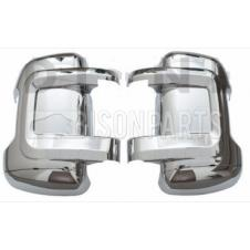 CHROME STYLE MIRROR BACK COVERS RH & LH (PAIR)