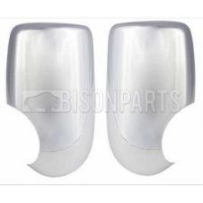 FORD TRANSIT MK6 & MK7 2000 - 2013 CHROME MIRROR BACK COVERS RH & LH (PAIR)