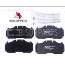ERF, MAN, MERITOR, RENAULT FRONT or REAR BRAKE PAD SET WITH FITTING KIT (Genuine Meritor)