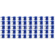 32MM LONG REACH DUSTITE WHEEL NUT COVERS BLUE (PKT 50)