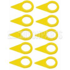 38MM WHEEL NUT INDICATOR YELLOW (PKT 10)