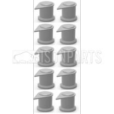 32MM LONG REACH DUSTITE WHEEL NUT COVERS SILVER GREY (PKT 10)
