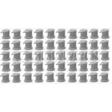32MM LONG REACH DUSTITE WHEEL NUT COVERS SILVER GREY (PKT 50)