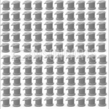 32MM LONG REACH DUSTITE WHEEL NUT COVERS SILVER GREY (PKT 100)