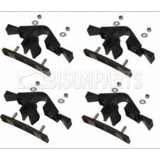 MUDGUARD / MUDWING MOUNTING BRACKET KIT 38MM (PKT 4)