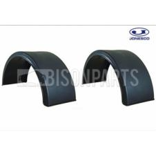 UNIVERSAL MUDGUARDS / MUDWINGS TO SUIT TWIN & SINGLE WHEELS J22A (PAIR)
