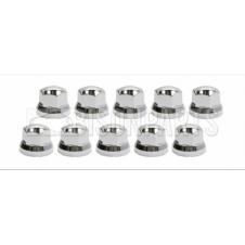 UNIVERSAL 32MM CHROME PLASTIC WHEEL NUT COVER (Pack of 10)