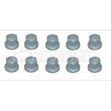Universal 32MM GREY PLASTIC WHEEL NUT COVER (Pack of 10)