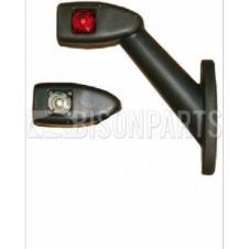 UNIVERSAL LED RED / CLEAR END OUTLINE MARKER LAMP PASSENGER SIDE LH